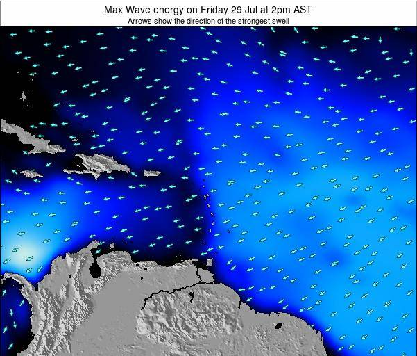 Saint Kitts and Nevis Max Wave energy on Tuesday 28 May at 2pm AST