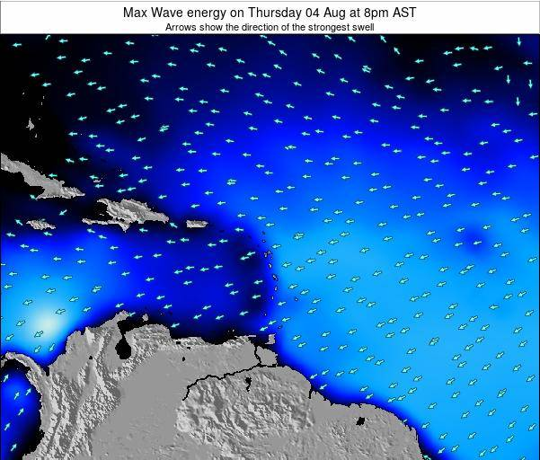 Dominican Republic Max Wave energy on Saturday 20 Feb at 2pm AST