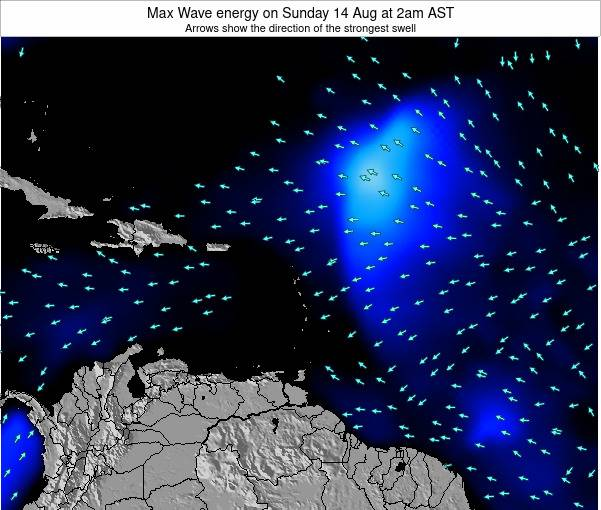 Dominican Republic Max Wave energy on Wednesday 11 May at 8pm AST