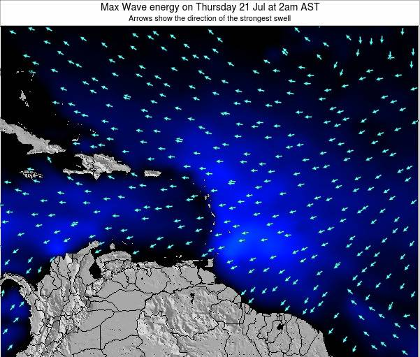 British Virgin Islands Max Wave energy on Sunday 16 Mar at 2am AST