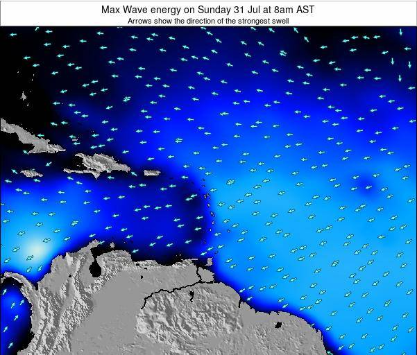 Dominican Republic Max Wave energy on Saturday 01 Oct at 2pm AST