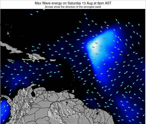 Dominican Republic Max Wave energy on Wednesday 18 Dec at 8am AST