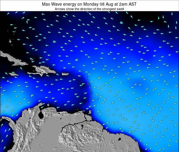 British Virgin Islands Max Wave energy on Thursday 07 Aug at 2am AST
