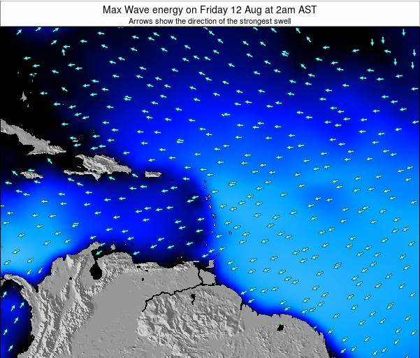 Saint Kitts and Nevis Max Wave energy on Wednesday 08 Apr at 8am AST