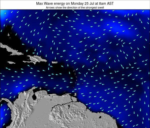 Saint Kitts and Nevis Max Wave energy on Saturday 25 May at 8am AST