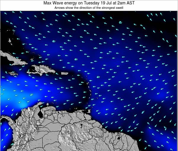 Saint Kitts and Nevis Max Wave energy on Friday 18 Apr at 8am AST