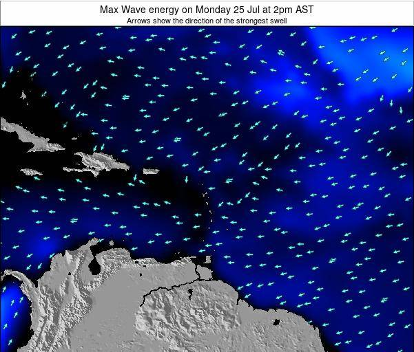 Dominican Republic Max Wave energy on Thursday 23 May at 2pm AST