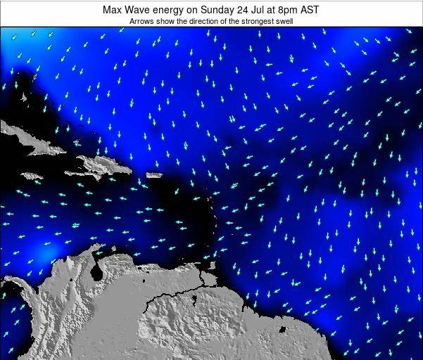 Saint Kitts and Nevis Max Wave energy on Thursday 23 May at 8am AST