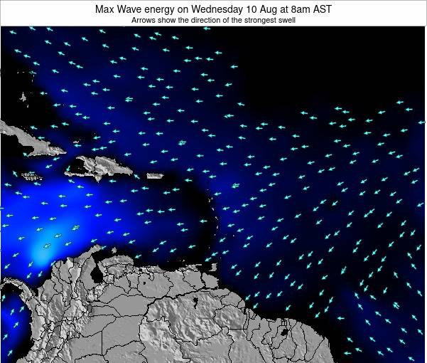 British Virgin Islands Max Wave energy on Friday 21 Jun at 2am AST