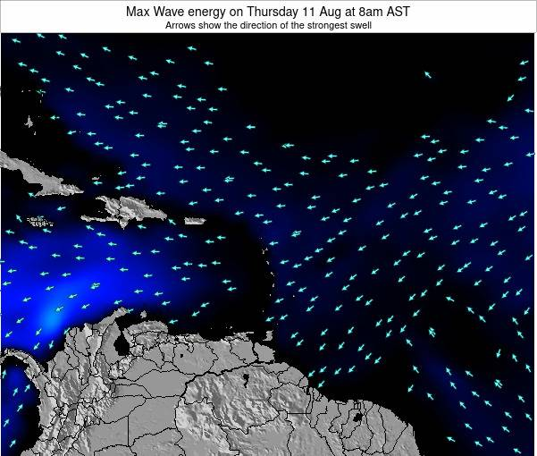 British Virgin Islands Max Wave energy on Sunday 27 Jul at 8am AST