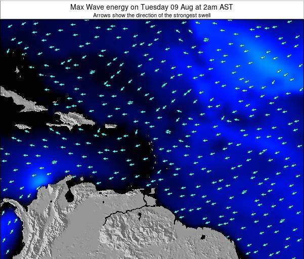 British Virgin Islands Max Wave energy on Saturday 22 Jun at 8am AST