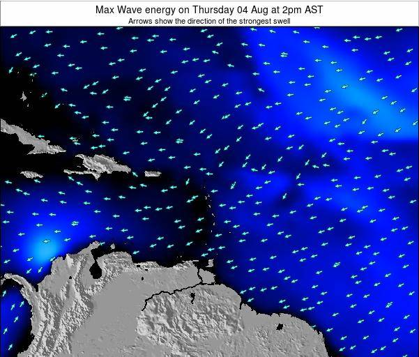 Saint Kitts and Nevis Max Wave energy on Tuesday 21 May at 2am AST
