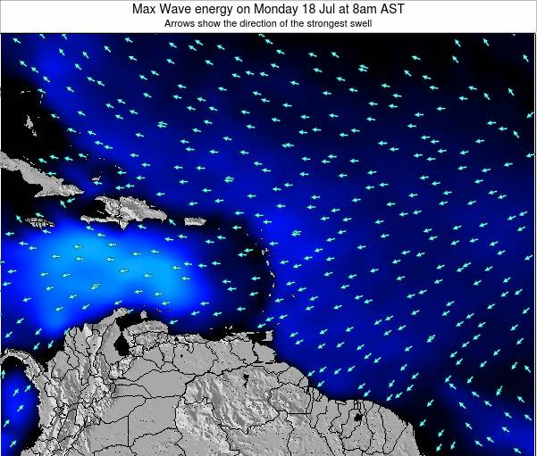 British Virgin Islands Max Wave energy on Monday 28 Apr at 2am AST