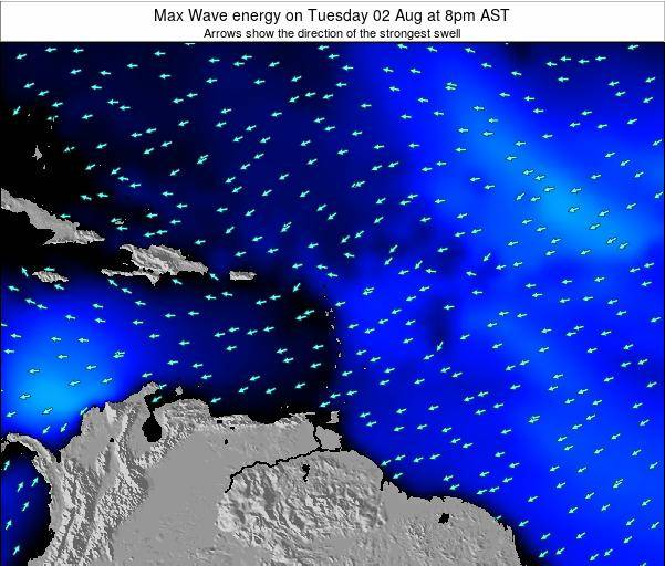 Saint Kitts and Nevis Max Wave energy on Sunday 26 May at 8am AST