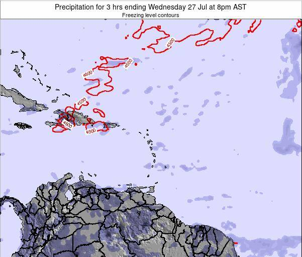 British Virgin Islands Precipitation for 3 hrs ending Wednesday 29 May at 2pm AST