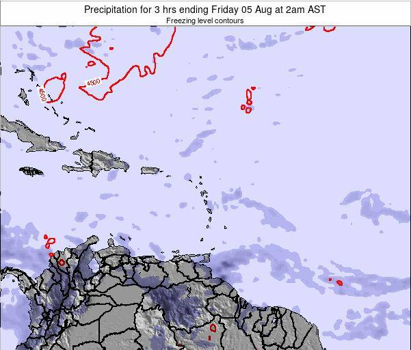 British Virgin Islands Precipitation for 3 hrs ending Friday 24 May at 8am AST