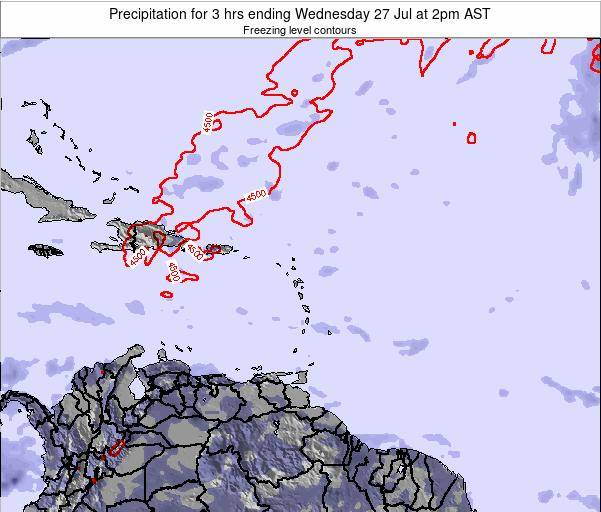 Montserrat Precipitation for 3 hrs ending Sunday 23 Jun at 8pm AST