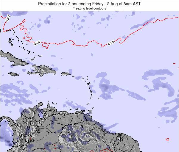 Montserrat Precipitation for 3 hrs ending Saturday 25 May at 2am AST map