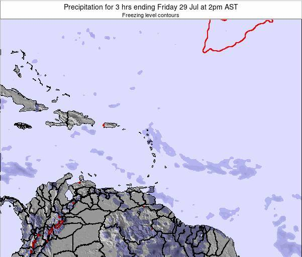 Saint Kitts and Nevis Precipitation for 3 hrs ending Monday 27 May at 2am AST