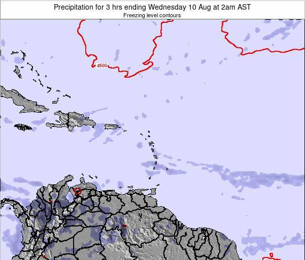 US Virgin Islands Precipitation for 3 hrs ending Sunday 23 Jun at 2pm AST