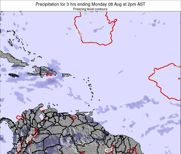 Saint Kitts and Nevis Precipitation for 3 hrs ending Sunday 23 Jun at 8pm AST