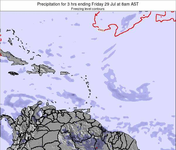 British Virgin Islands Precipitation for 3 hrs ending Saturday 25 May at 8am AST