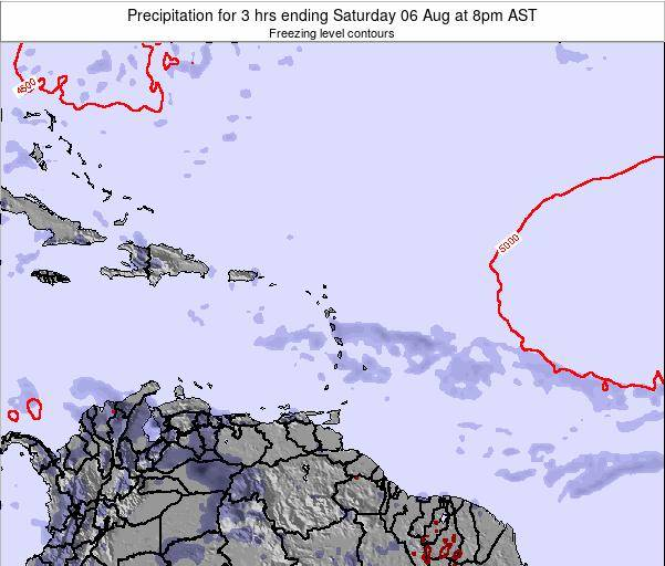 Puerto Rico Precipitation for 3 hrs ending Tuesday 21 May at 8pm AST