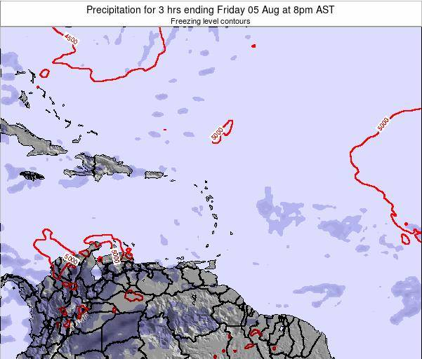 Saint Kitts and Nevis Precipitation for 3 hrs ending Thursday 23 May at 2pm AST