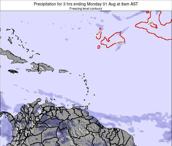 Dominican Republic Precipitation for 3 hrs ending Friday 24 May at 2am AST map