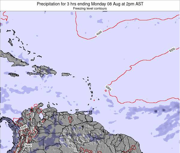 Anguilla Precipitation for 3 hrs ending Thursday 23 May at 2pm AST map