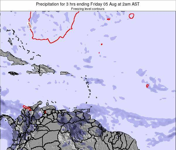 Anguilla Precipitation for 3 hrs ending Thursday 23 May at 2am AST map