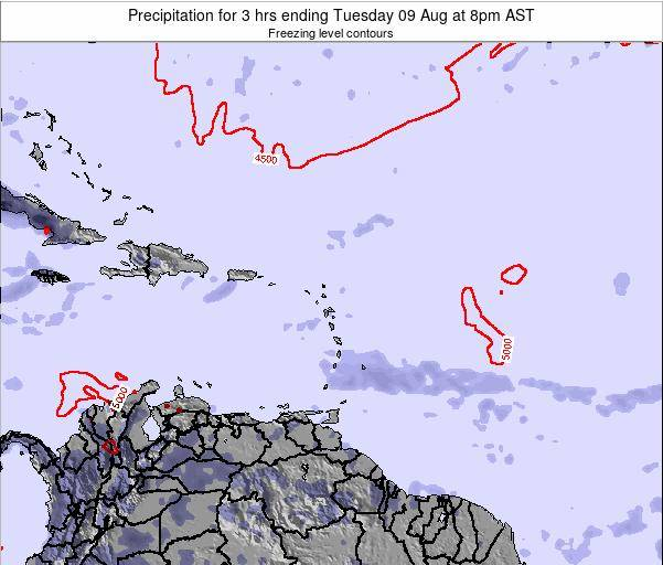 British Virgin Islands Precipitation for 3 hrs ending Sunday 26 Oct at 8pm AST