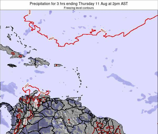 Saint Kitts and Nevis Precipitation for 3 hrs ending Wednesday 29 May at 8am AST