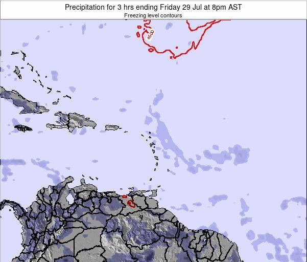 British Virgin Islands Precipitation for 3 hrs ending Tuesday 22 Apr at 8am AST