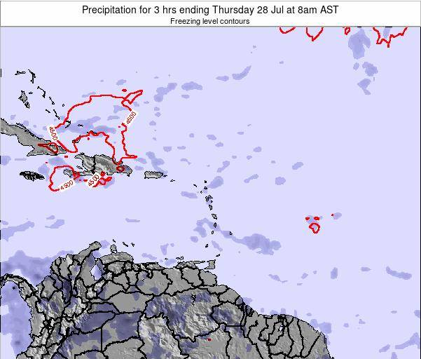 British Virgin Islands Precipitation for 3 hrs ending Thursday 13 Mar at 8pm AST