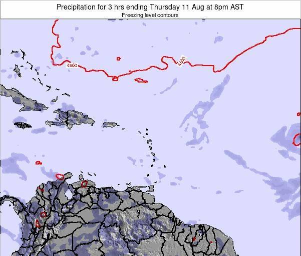 Saint Kitts and Nevis Precipitation for 3 hrs ending Sunday 26 Oct at 8am AST