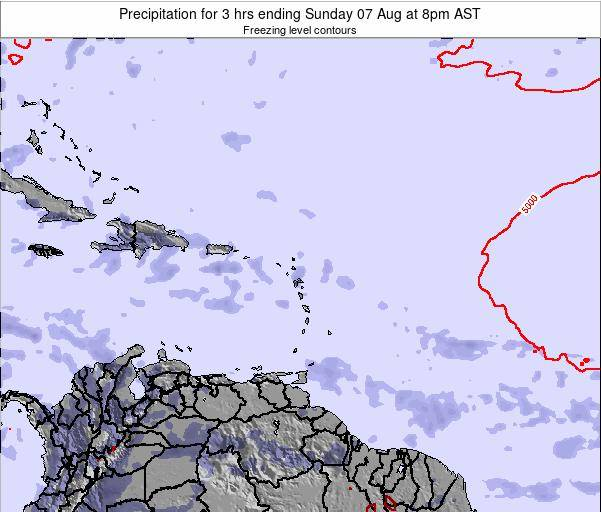 Saint Kitts and Nevis Precipitation for 3 hrs ending Wednesday 11 Dec at 8pm AST