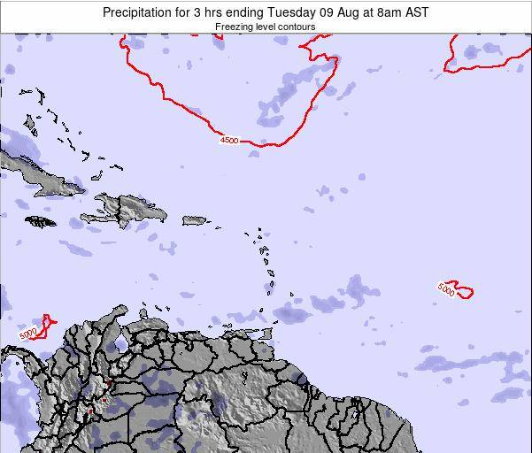 British Virgin Islands Precipitation for 3 hrs ending Tuesday 29 Apr at 8pm AST