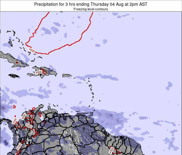British Virgin Islands Precipitation for 3 hrs ending Saturday 14 Dec at 2pm AST