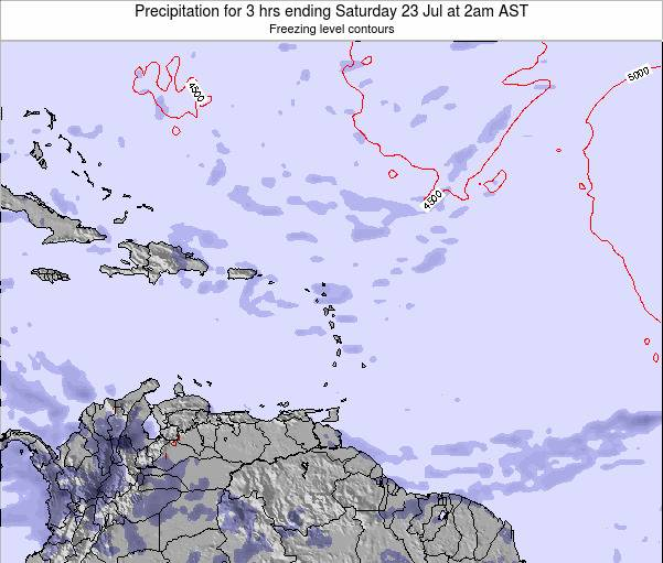 Saint Kitts and Nevis Precipitation for 3 hrs ending Saturday 26 Apr at 2am AST