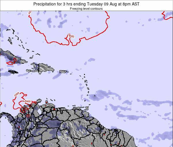 British Virgin Islands Precipitation for 3 hrs ending Wednesday 29 May at 2am AST