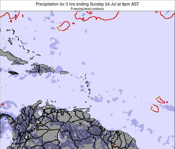 British Virgin Islands Precipitation for 3 hrs ending Monday 23 Dec at 2pm AST