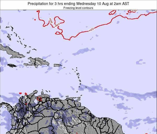 US Virgin Islands Precipitation for 3 hrs ending Wednesday 29 May at 8am AST