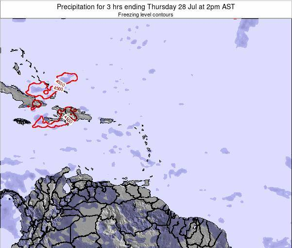 British Virgin Islands Precipitation for 3 hrs ending Monday 28 Apr at 8am AST