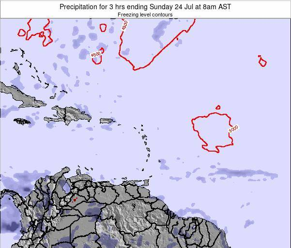 British Virgin Islands Precipitation for 3 hrs ending Sunday 16 Mar at 8pm AST