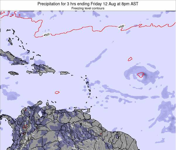 Barbados Precipitation for 3 hrs ending Thursday 23 May at 2pm AST map