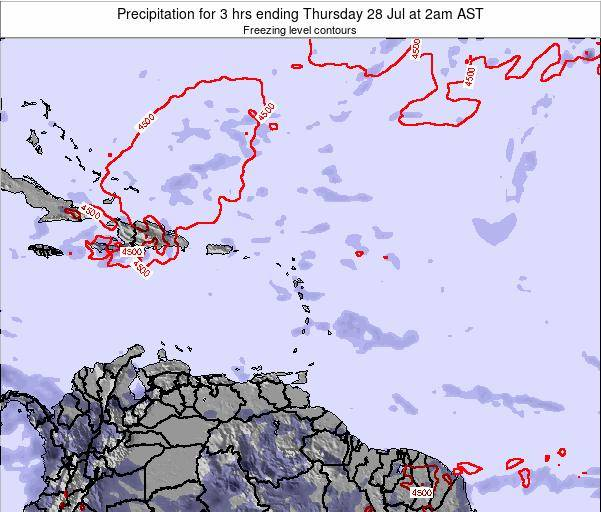 Saint Kitts and Nevis Precipitation for 3 hrs ending Thursday 30 May at 2pm AST