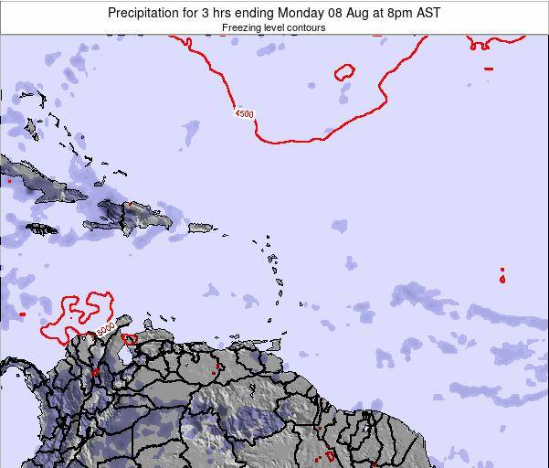 British Virgin Islands Precipitation for 3 hrs ending Sunday 06 Sep at 8pm AST