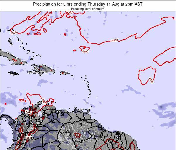 Montserrat Precipitation for 3 hrs ending Thursday 30 May at 2pm AST