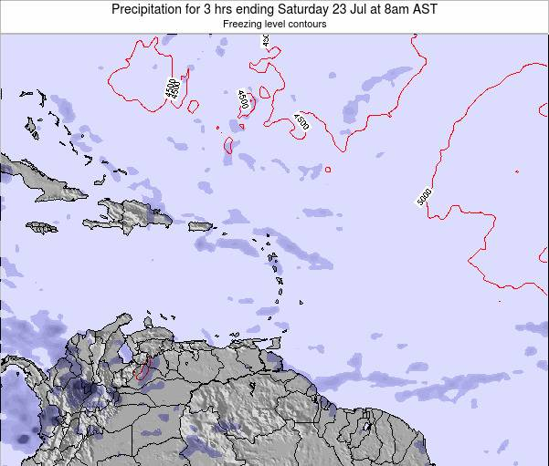 Montserrat Precipitation for 3 hrs ending Tuesday 25 Jun at 2am AST